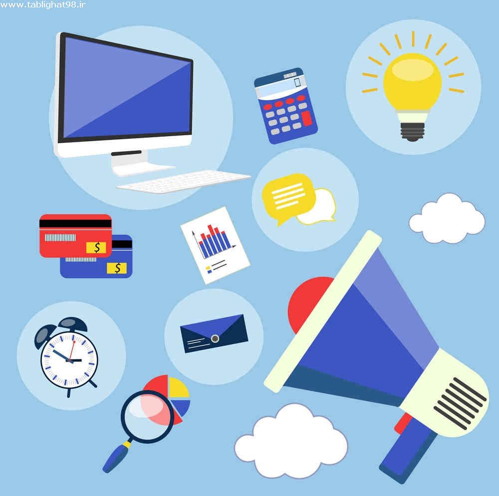 تبلیغات اینترنتی برای جذب مشتری برای کار گل آرایی