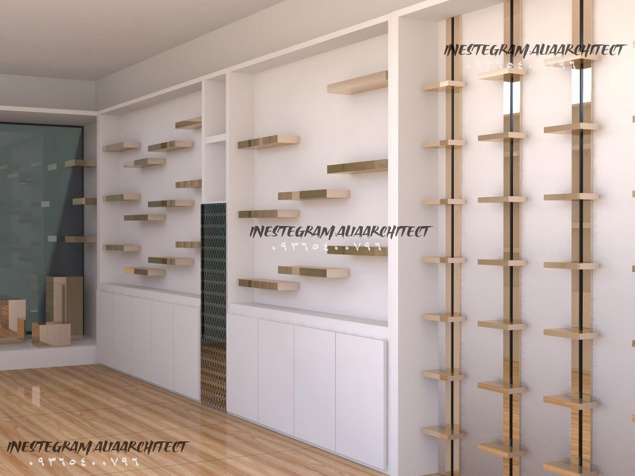 طراح کابینت،دکوراسیون داخلی،دکور مغازه ،سه بعدی